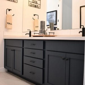 Bathroom Timeless Nantucket Black Matte Maple