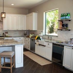 Kitchen Frameless Custom FarmhouseSink Arcadia RegalWhite BrownGlaze Maple