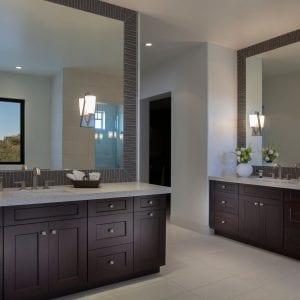 Bathroom Frameless Spirit Bordeaux Satin Alder