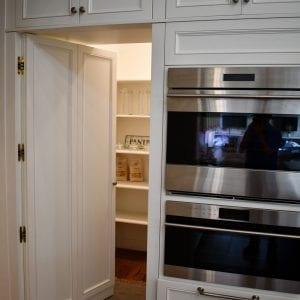 Kitchen Timeless HiddenPantry Valencia RegalWhite BlackGlaze Maple
